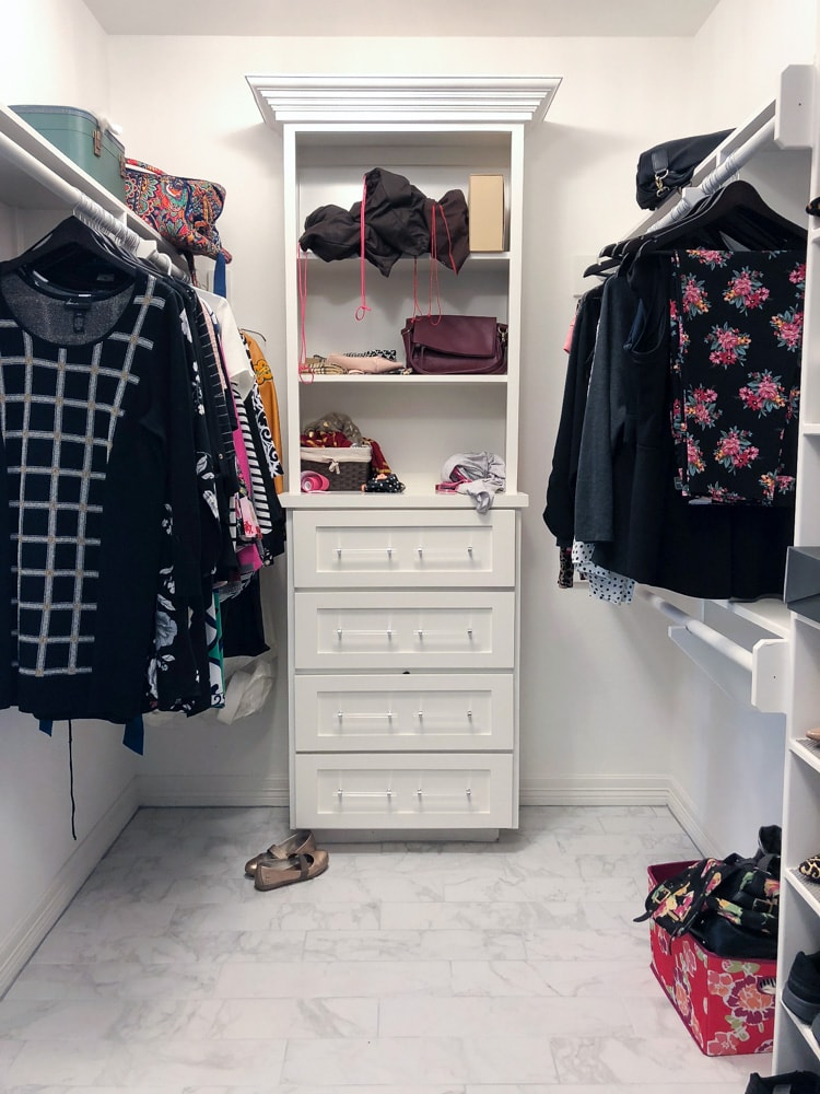 Master bedroom closet with built-ins