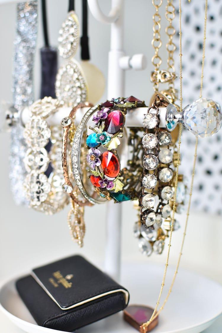 Jewelry storage for a master closet