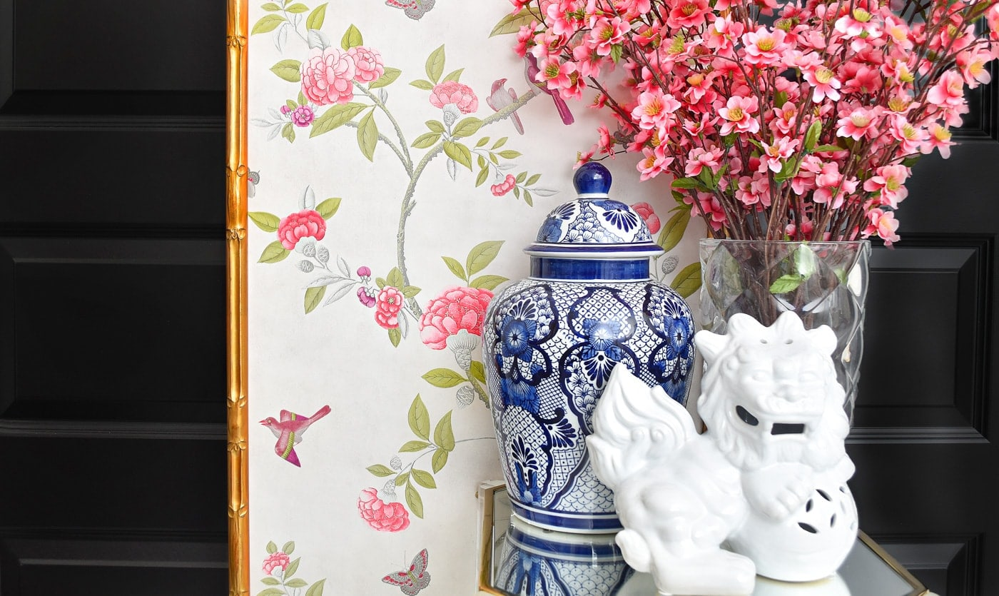 DIY Chinoiserie wall panels