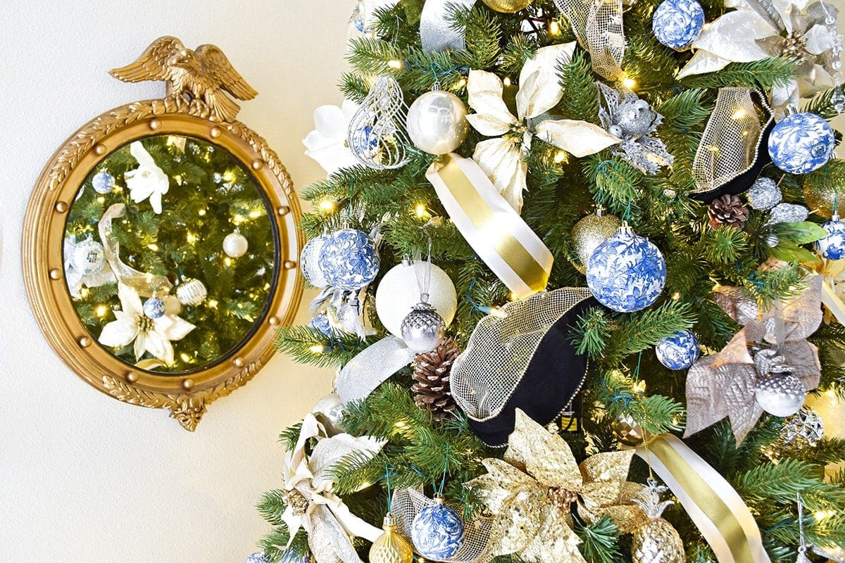 Chinoiserie Christmas Tree Decor Ideas