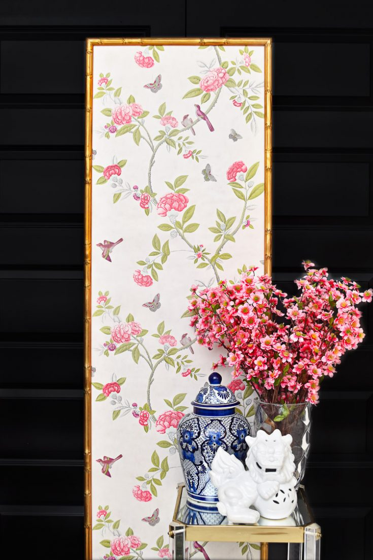 A pink, gold and black home office with chinoiserie decor and tons of florals. Talk about office goals!  #DIY  #DIYHomeDecor #diycrafts #diyhomedecorpainting #diyhomedecorgold #diydecor #diydecorating #decor #decorating #decoratingideas #decorideas #homedecor #homedecorideas #homedecoraccessories #homedecorating #homedecoronabudget #homedecoratingtips #homedecoration #budgetdecorating