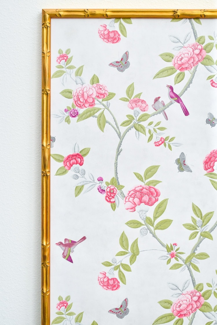 Framed chinoiserie wall panels