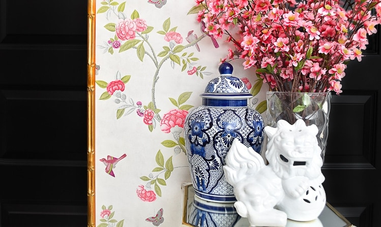 DIY Bamboo Framed Chinoiserie Wall Panels