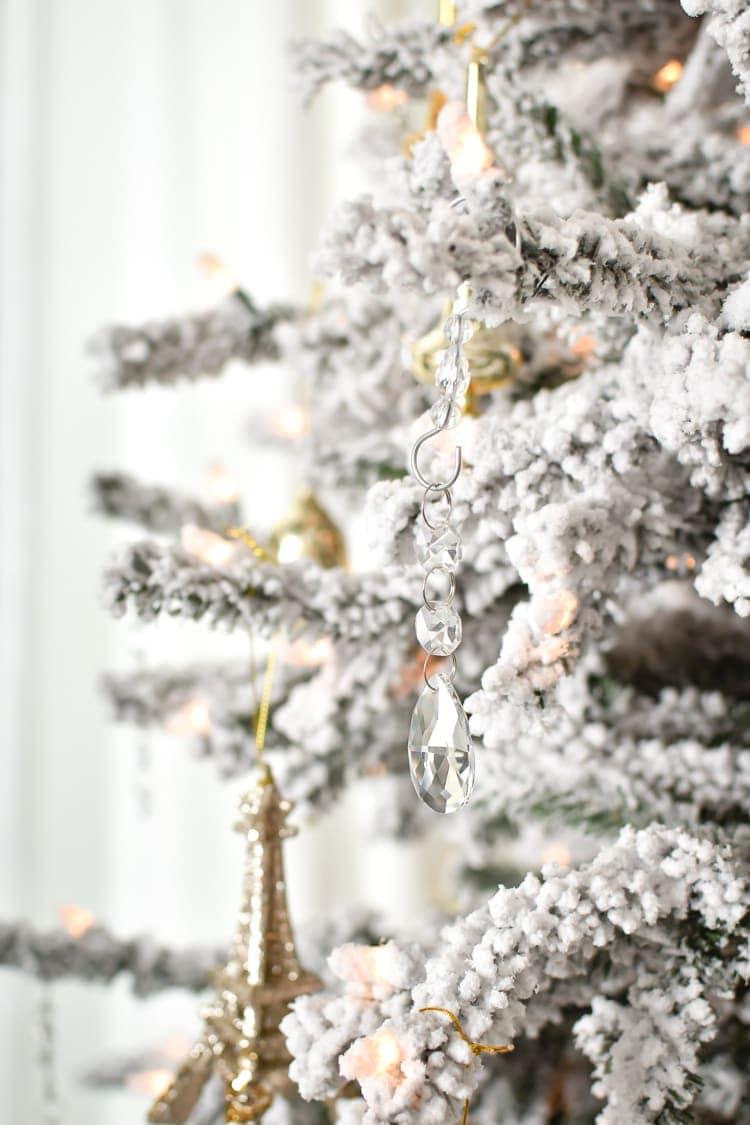 Christmas tree decor master bedroom
