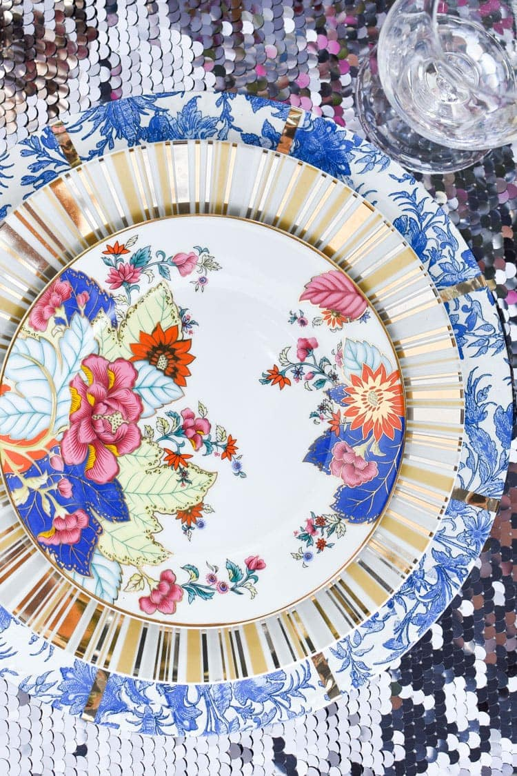 Tobacco leaf china place setting