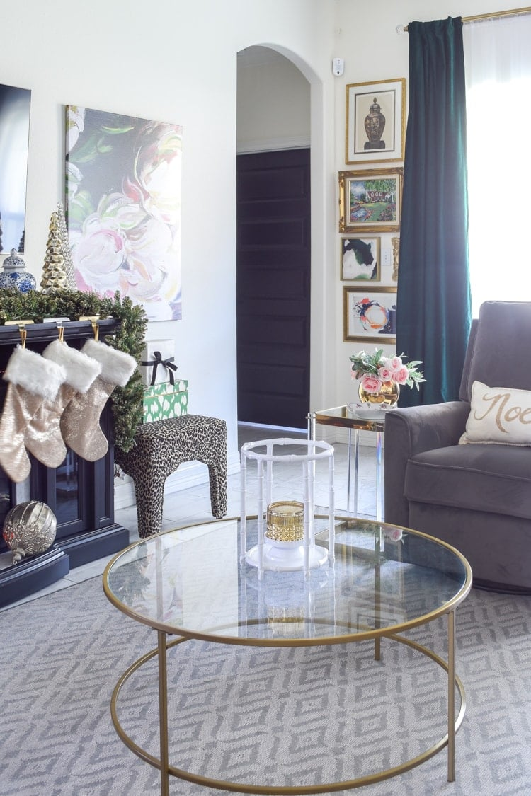 Christmas living room decorations glam elegant
