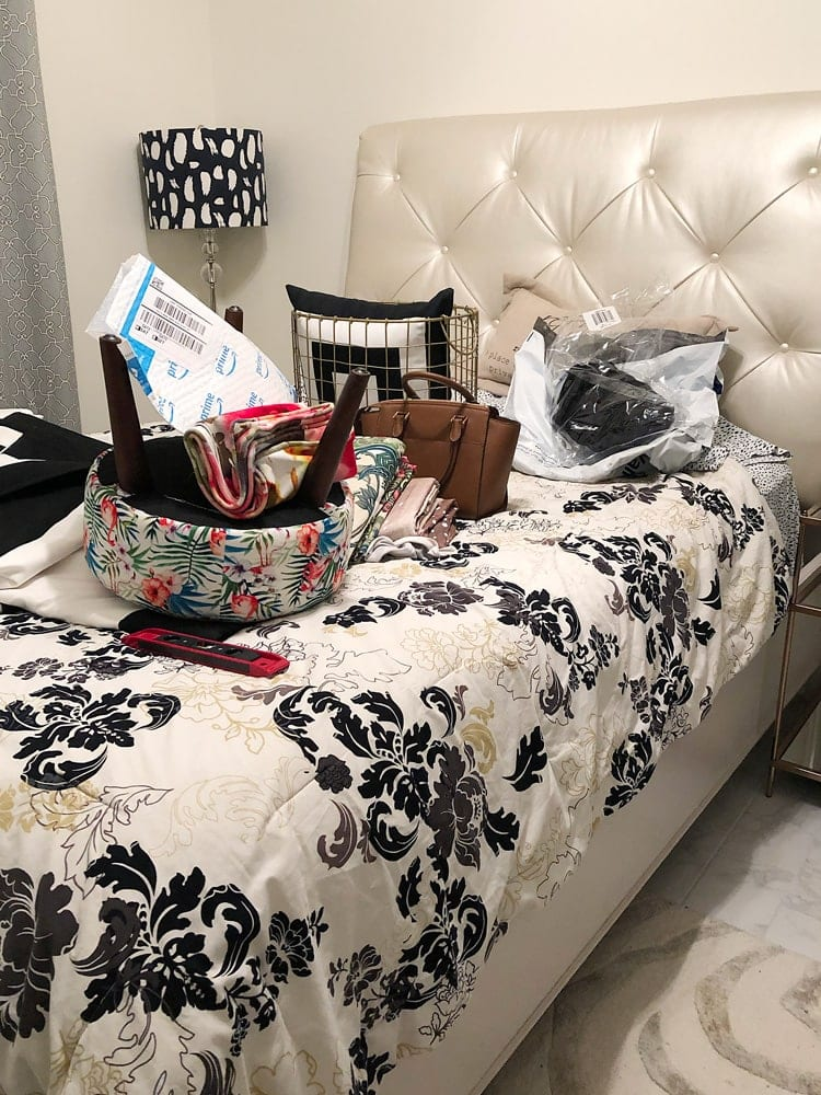 Messy guest room