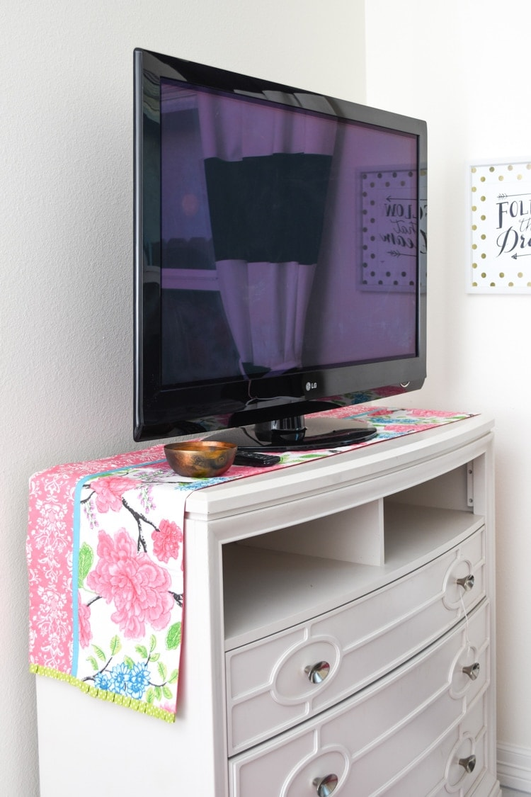 Guest bedroom TV media chest