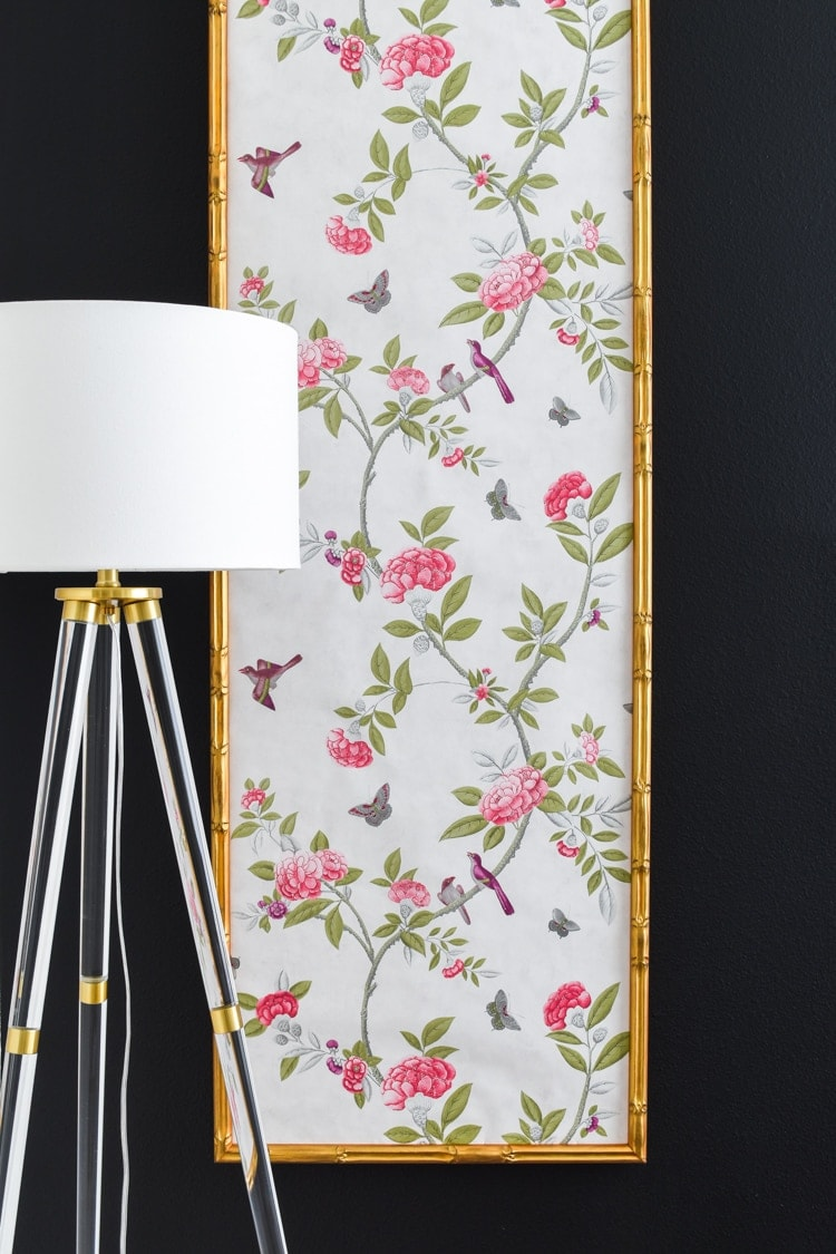 DIY bamboo chinoiserie wallpaper panels