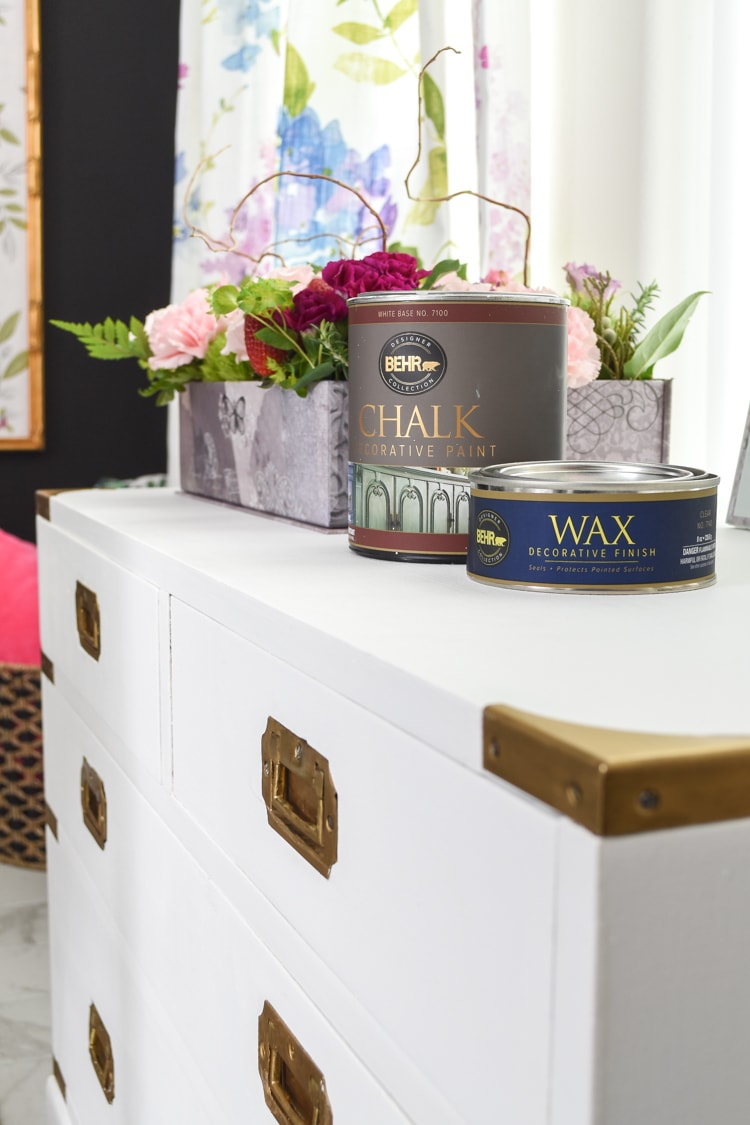 Painting furniture with BEHR decorative chalk paint