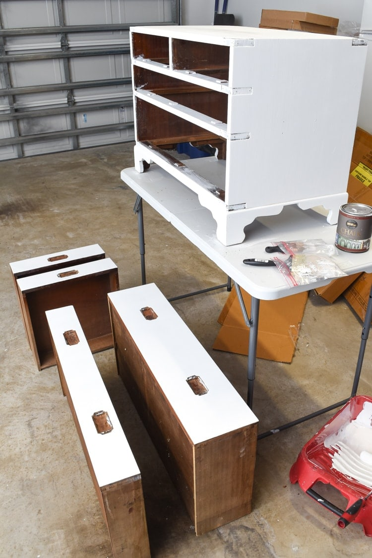 Painting an old campaign chest