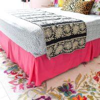 Hot Pink Bedskirt
