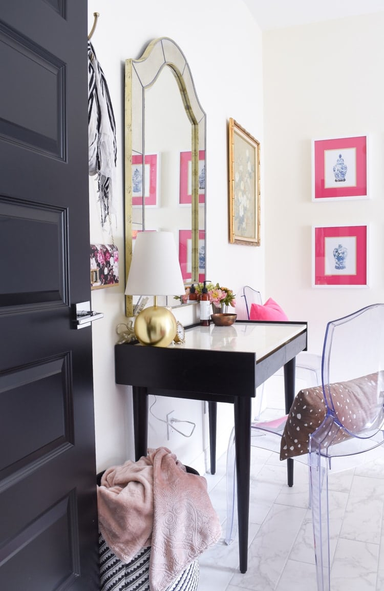 Home office in a guest bedroom